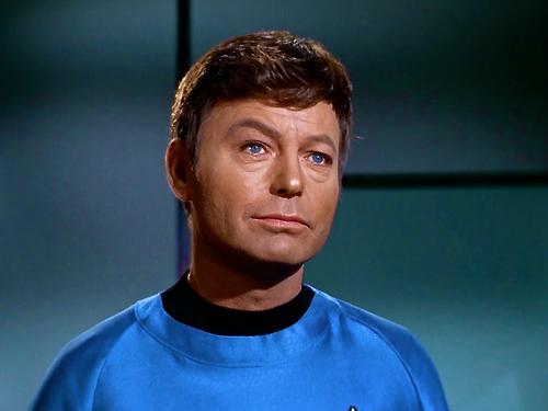 Leonard McCoy and those blue eyes ;)