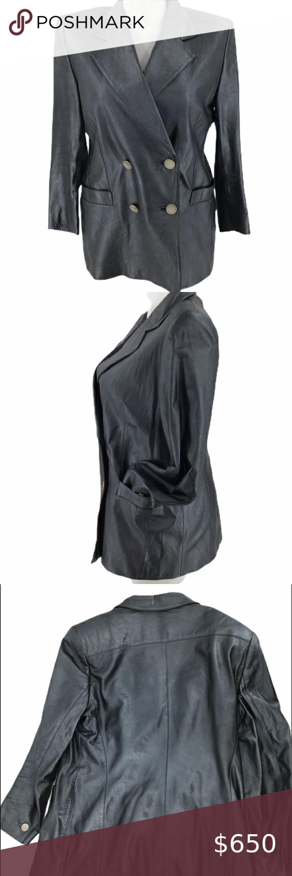 Escada Napa Leather Jacket Coat Logo Buttons Escada Leather Coat Jacket Blazer Tag Size 42 Escada Conversion In 2020 Leather Jacket Leather Coat Jacket Escada Jacket [ 1740 x 580 Pixel ]