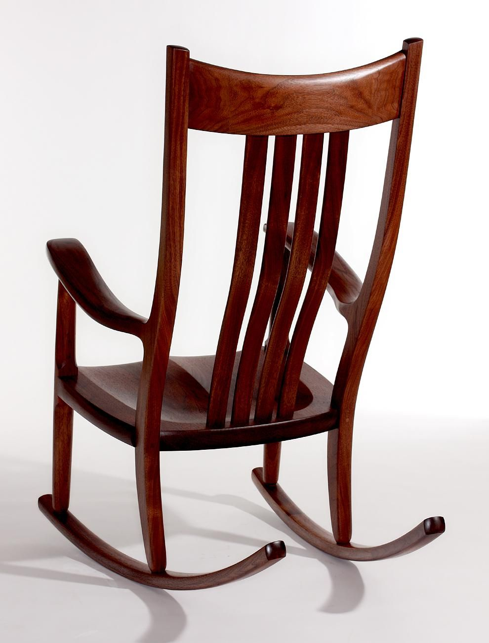 rocking chair fine woodworking iron outdoor chairs gary weeks in walnut furniture pinterest