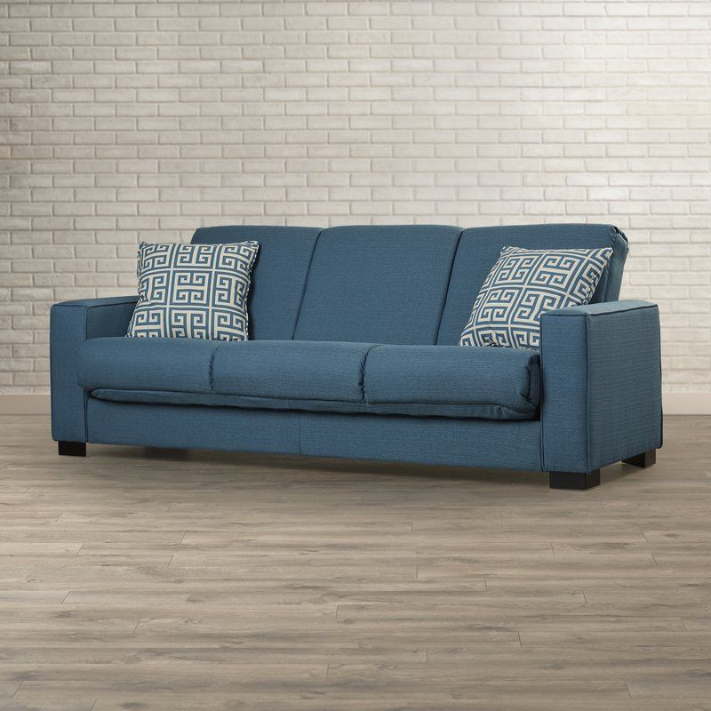 Wrapped In Linen-inspired Upholstery, This Track-arm Sleeper Sofa Brings  Transitional Style