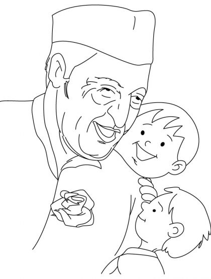 chacha nehru coloring page | Download Free chacha nehru ...