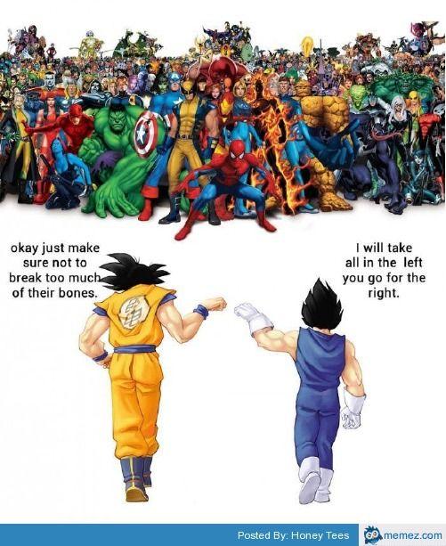 Goku And Vegeta Vs Marvel Anime Dragon Ball Super Anime Dragon Ball Dragon Ball Super Art
