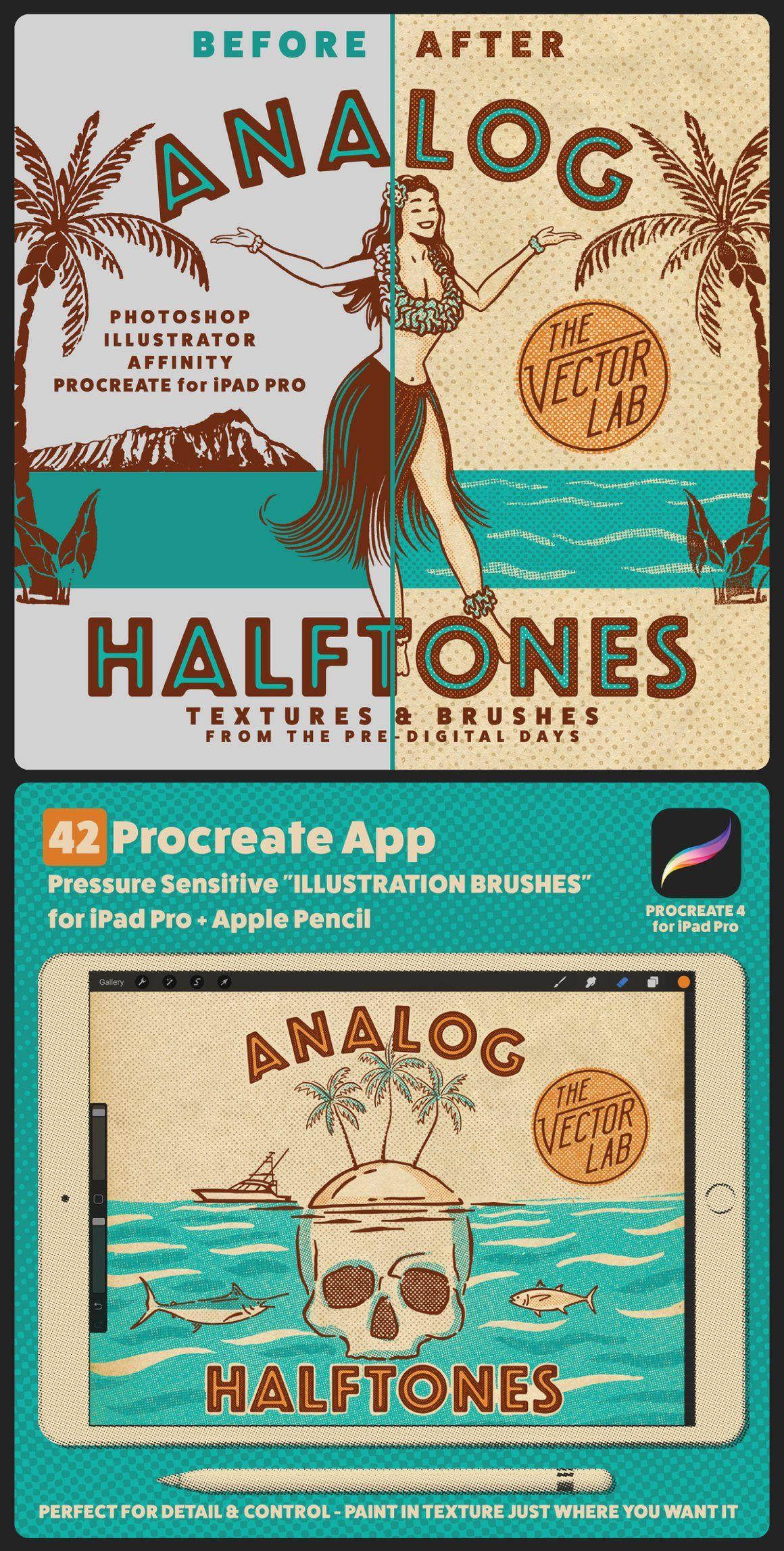 Analog Halftones Halftone Design Graphic Design Projects Vintage Graphic Design