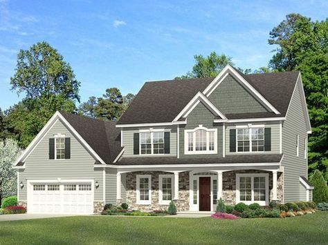 Colonial Style House Plan 3 Beds 2 5 Baths 2329 Sq Ft Plan 1010 126 With Images Colonial House Plans Traditional House Plans Colonial House Exteriors