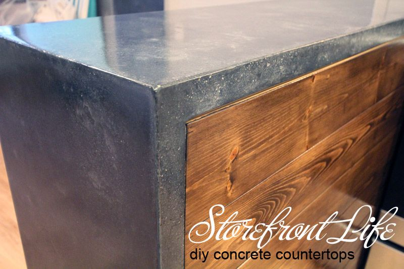 DIY Concrete Counters   DIYu0027ing Gorgeous Solid Surface Custom Concrete  Countertops, Including A Waterfall Edge.