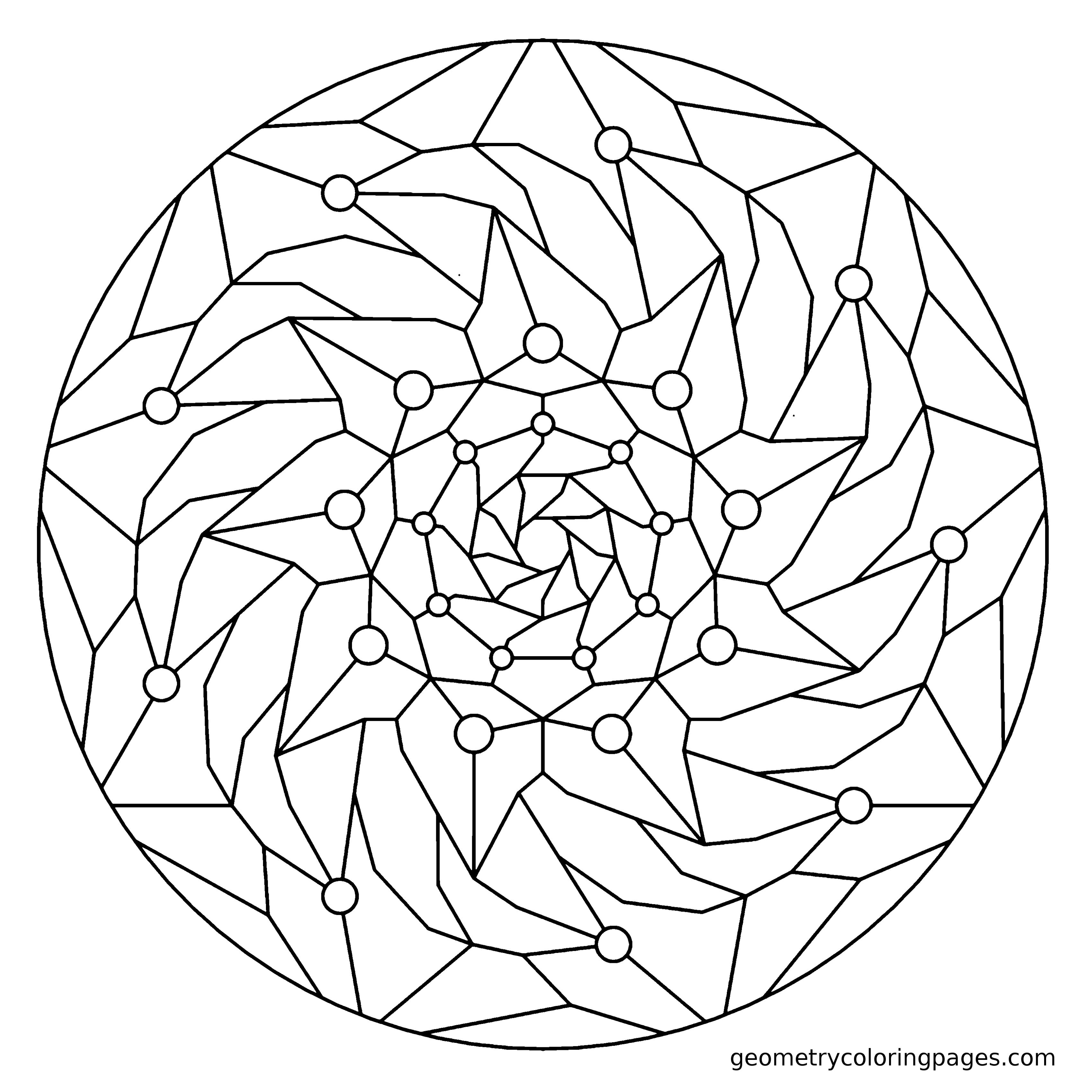 Geometry Coloring Page Fall  Mandela Ready To Color  Pinterest