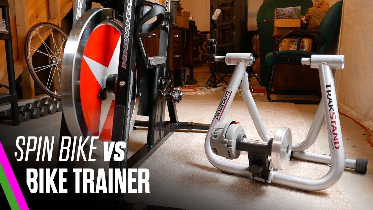 Spin Bike Vs Bike Trainer Best Indoor Cycling Setup Bike Trainer Spin Bikes Bike