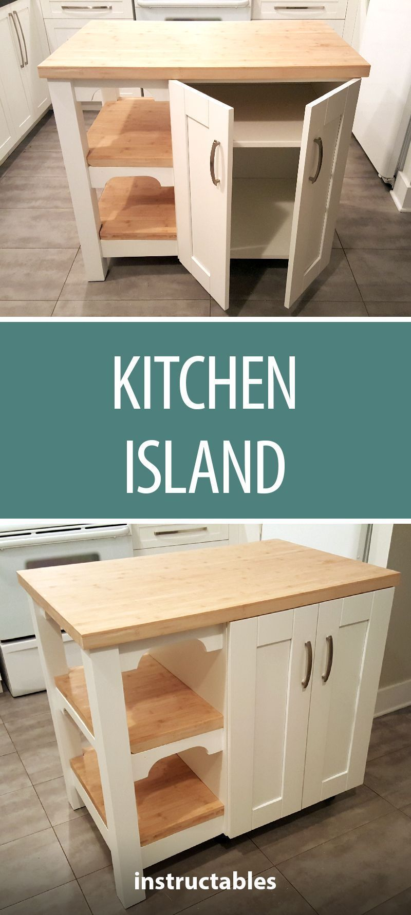 Transform A Cheap Pre Made Kitchen Cabinet Into A Personalized Kitchen Island I T In 2020 Prefab Kitchen Cabinets Kitchen Remodel Cost Custom Kitchen Island