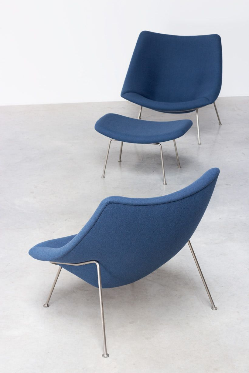 paulin pierre oyster f pair of lounge chairs with ottoman  - paulin pierre oyster f pair of lounge chairs with ottoman artifort http