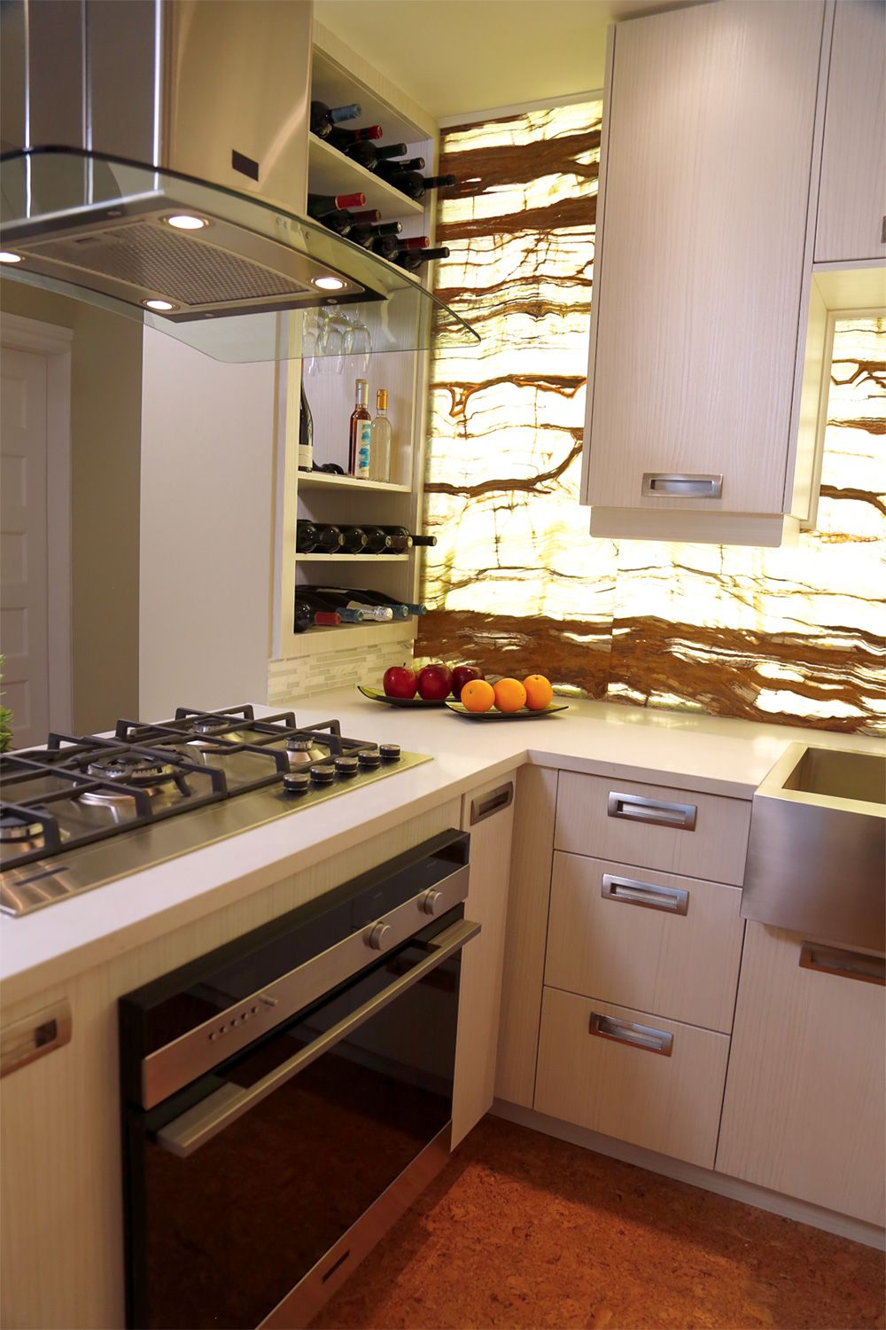 We created a regal kitchen space with plenty of