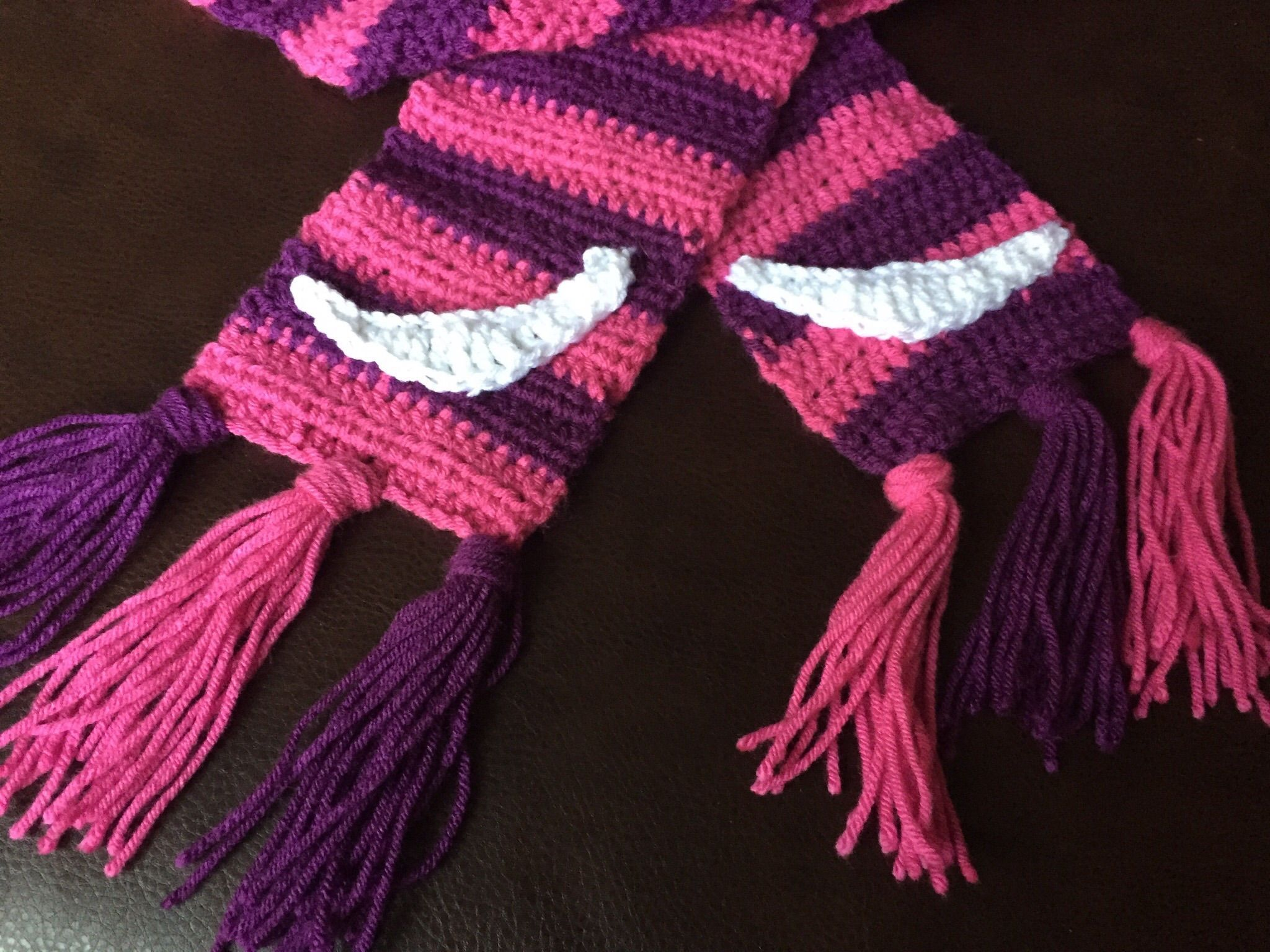Cheshire Cat Scarf | Cheshire cat, Cat scarf and Crochet