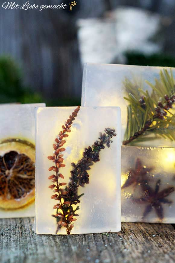 Das Beste kommt zum Schluss - ein Stück Natur in einer Seife verpackt #kleinegeschenkeweihnachten