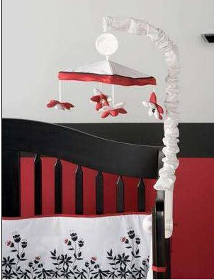 Black White And Red Organic Baby Crib Bedding And Nursery Wall Decorating Ideas We Used The Black White And Red Nursery Bedding Set Th Red Nursery Red Baby Nurseries Nursery