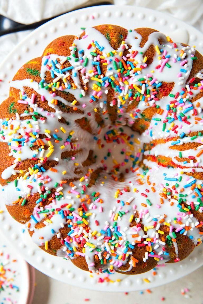 Funfetti bundt cake recipe cake recipes funfetti cake