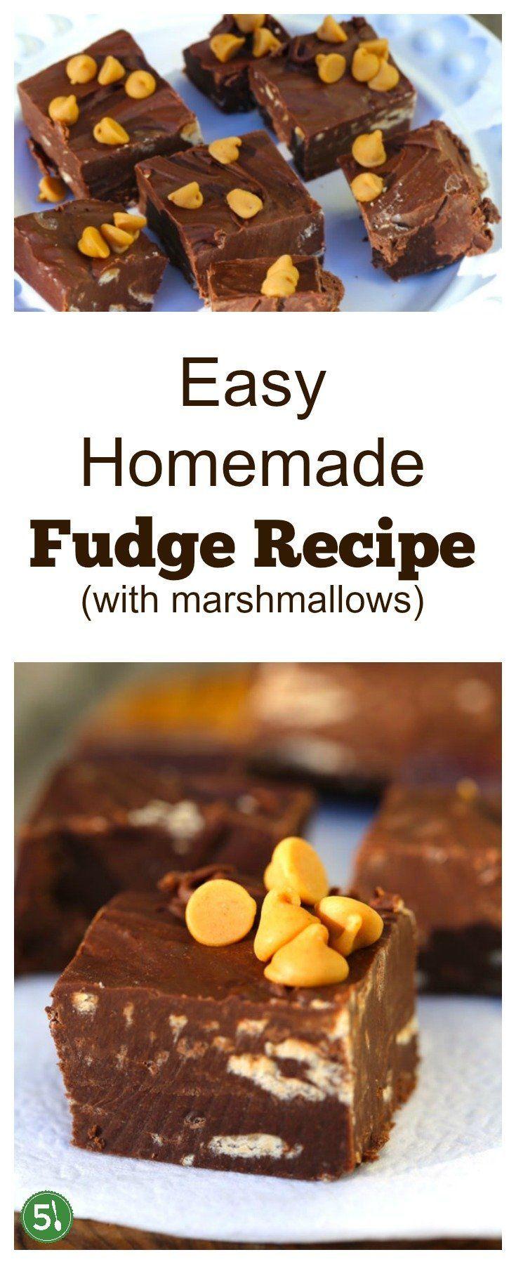 Easy Fudge Recipe With Marshmallows Recipe Chocolate Chips Recipes Recipes With Marshmallows Fudge Recipes Chocolate Recipes
