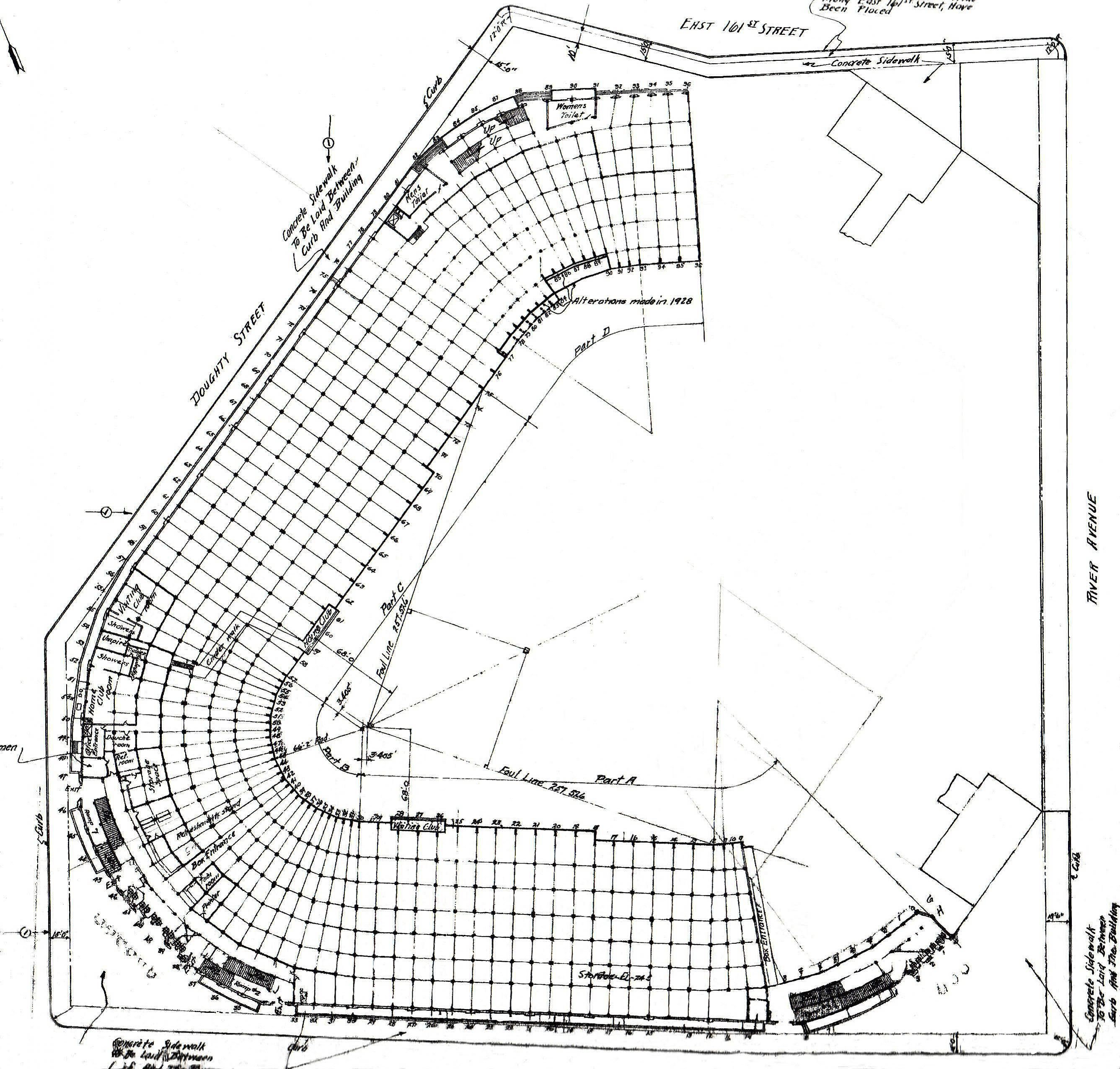 Old Yankee Stadium Blueprint
