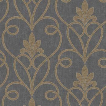 Fine Decor Tuscany Damask Wallpaper Black Gold Decorazioni Pittore