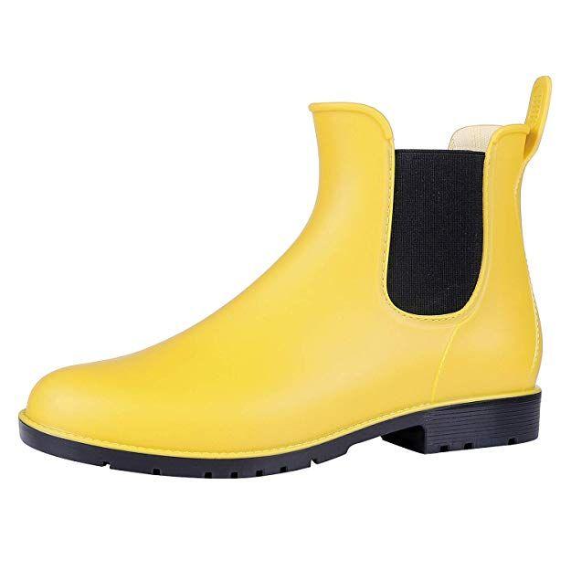 0f84935877 Amazon.com | Asgard Women's Short Rain Boots Waterproof Slip On Ankle  Chelsea Booties | Rain Footwear