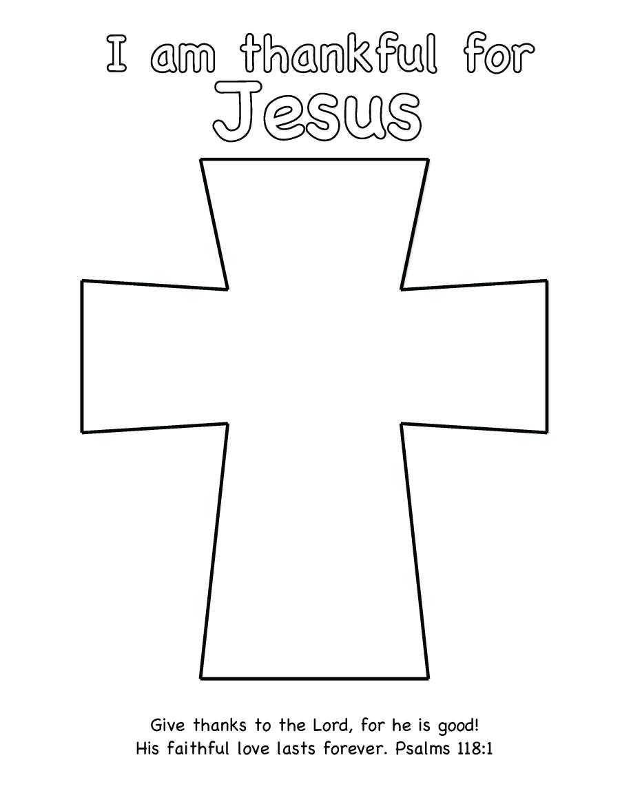 Thanksgiving Craft Thankful for Jesus Sunday school