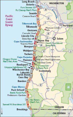 Oregon Scenic Drives: Pacific Coast Scenic Byway