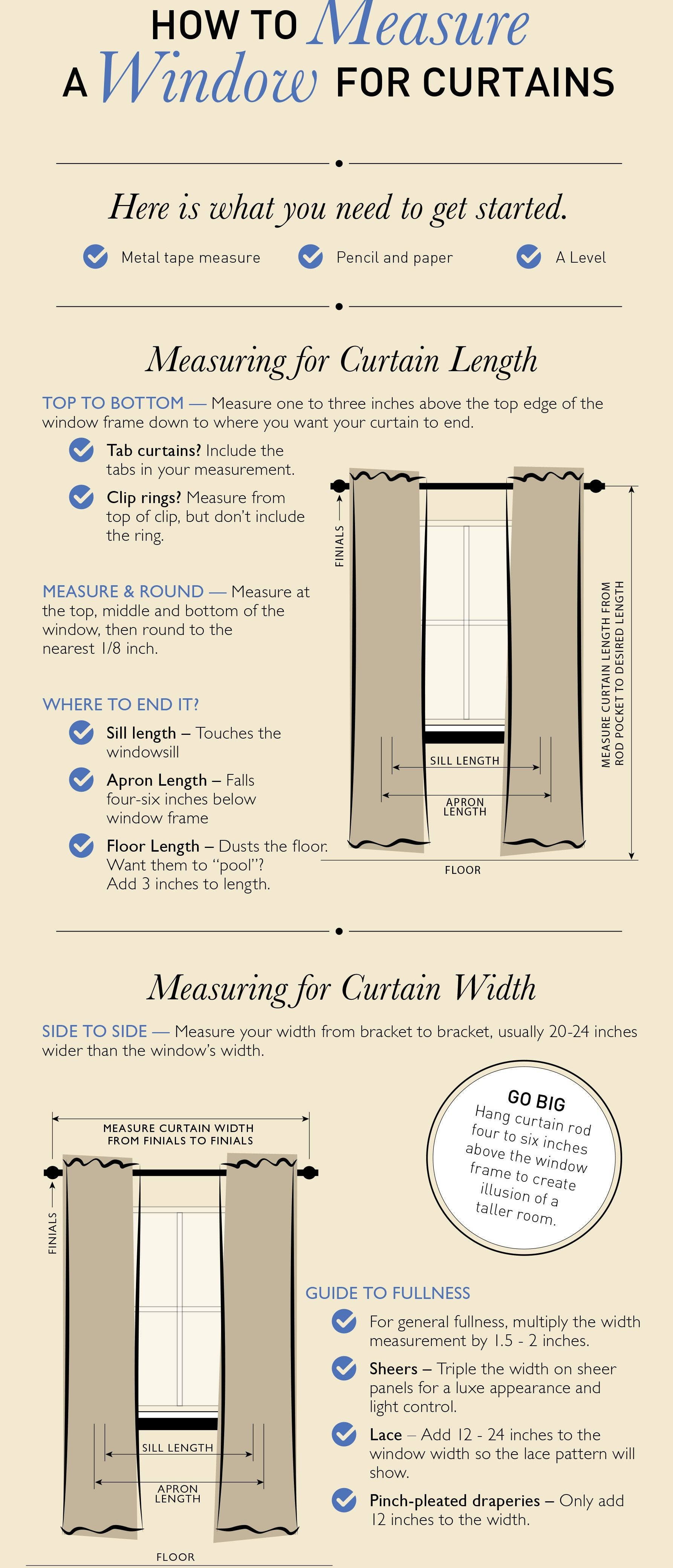 How to measure a window for curtains with images diy