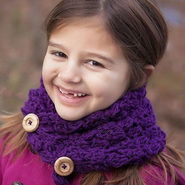 Button Cowl Free Crochet Pattern | Crochet | Pinterest | Bufanda cuello