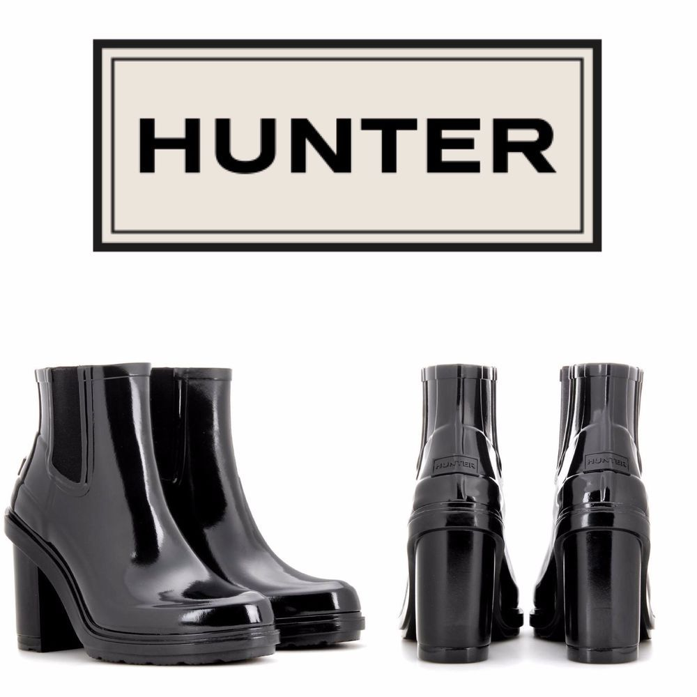 Hunter Shoes | Sale Refined Chelsea Heeled Rain Boots | Poshmark