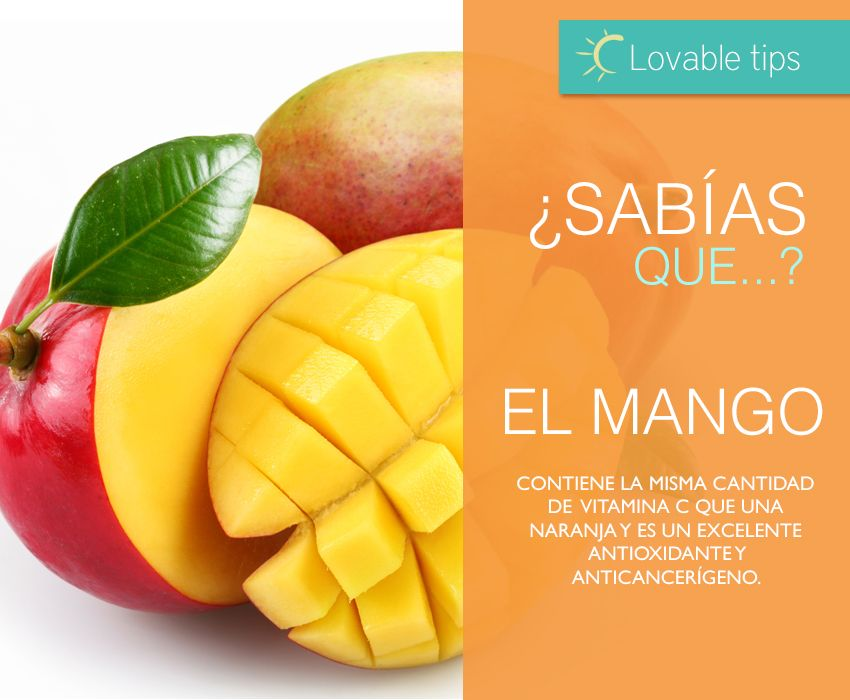 #LovableTips. El mango: una fuente de vitaminas esenciales para tu piel en esta temporada cálida. Este #verano cuida de ti consumiendo frutas frescas. #LetsSplash ☼