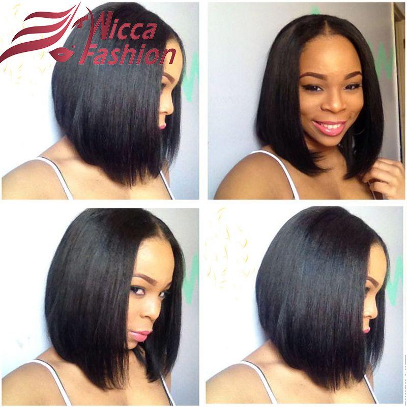 Indian Virgin Hair Lace Front Wigs Short Bob Human Full For Black Women