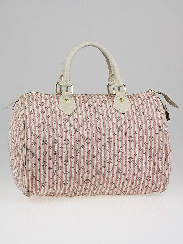 071ec4a9e990 Louis Vuitton Pink White Monogram Mini Lin Croisette Speedy 30 Bag ...
