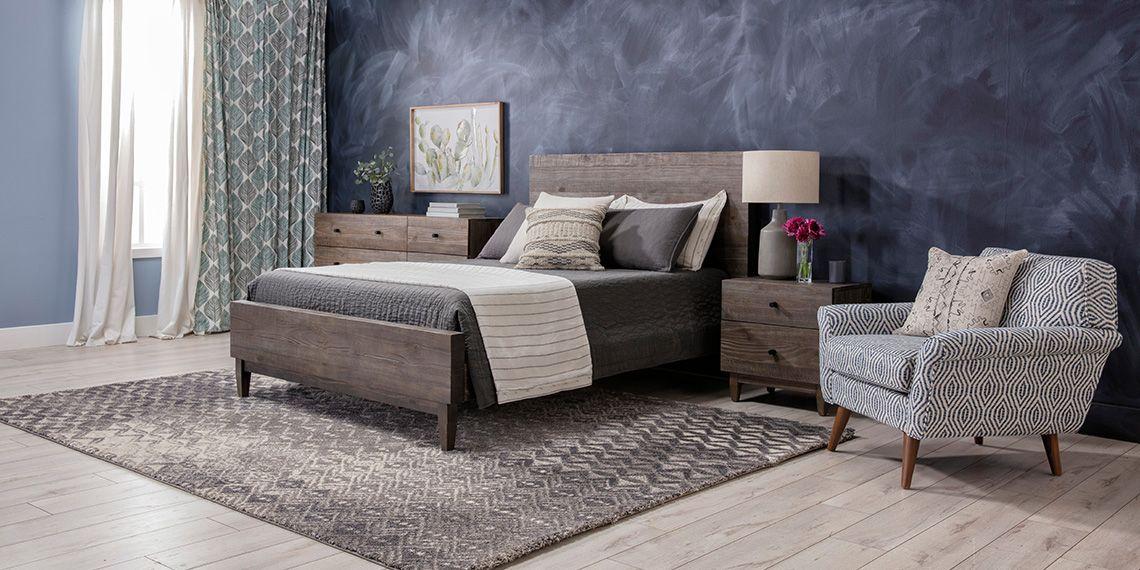 Modern Bedroom With Ashton Queen Platform Bed Living Spaces Queen Platform Bed King Platform Bed California King Platform Bed