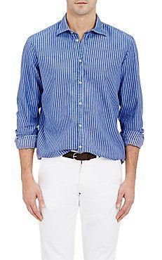 Massimo Alba Striped Shirt