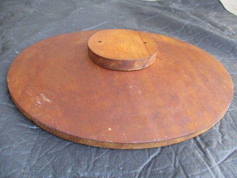 Vintage 49 Wide Brimmed Brim Cart Wheel Wooden Millinery Hat Block Collar Tocados Artesania Del Tocado Como Hacer