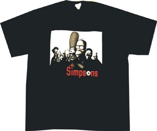 Simpsons Simpranos Mobsters Sopranos Spoof Men's T-Shirt, X-Large