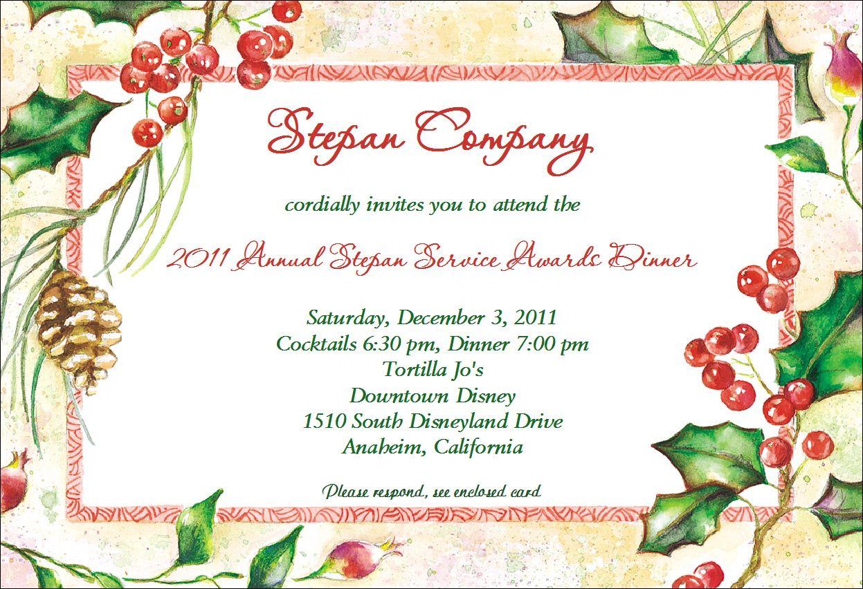 Party Invitation Sample Christmas party invitations