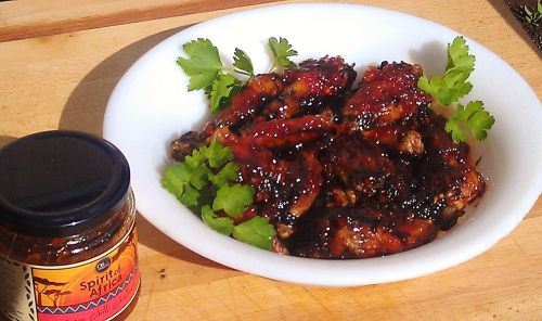 Oil & Vinegar Portland & Chili Chutney Wings   hautemealz.com