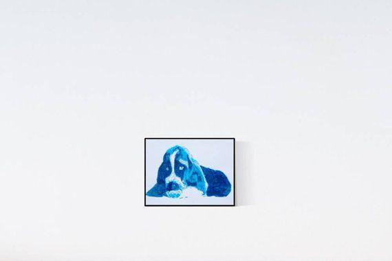 Basset : Geschenk für Hundefans – Pop Art Illustration – Zeichnung – Portrait nach Foto – Hundeportrait