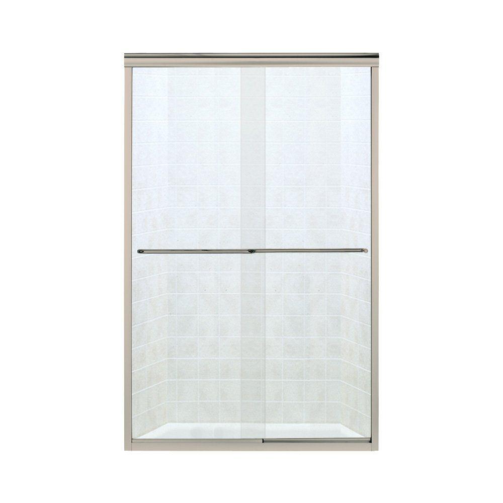 STERLING SP5465-45N-G05 Shower Door Bypass 65-1 2 H x 40-3 8 – 45-3 8 W Clear Glass Nickel #framelessslidingshowerdoors