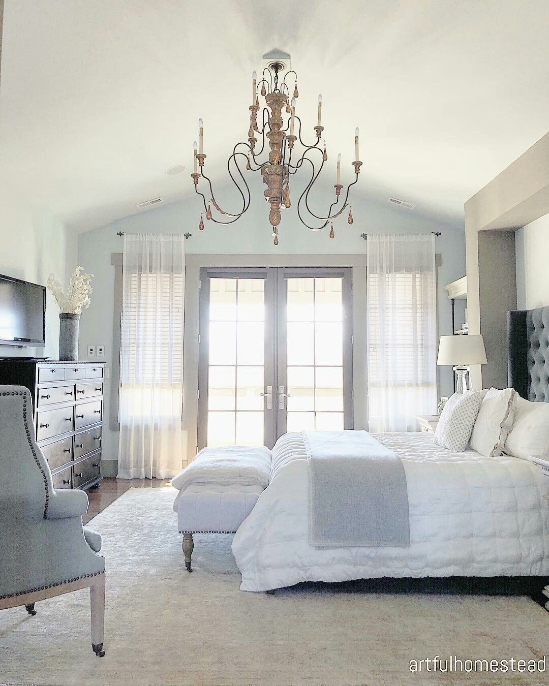 @artfulhomestead (With images)   French doors bedroom ...