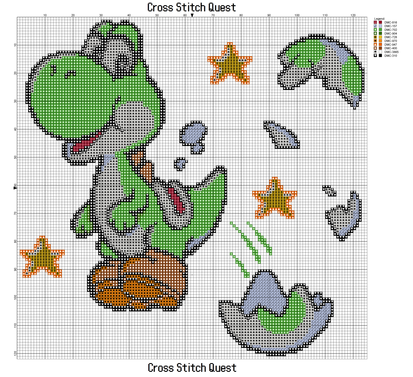 Free Yoshi Cross Stitch Pattern Mario Point De Croix