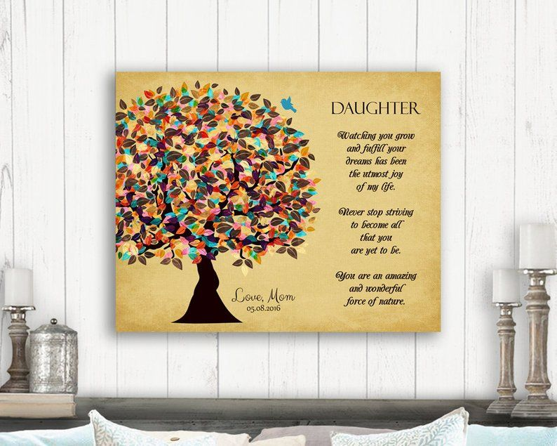 Gift from mom and dad personalized gift for daughter