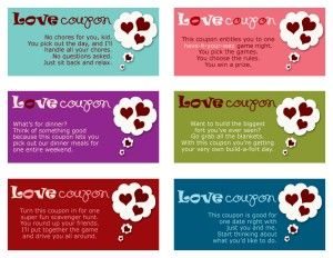printable coupons to give your kids very cute - Valentines Day Coupon Book