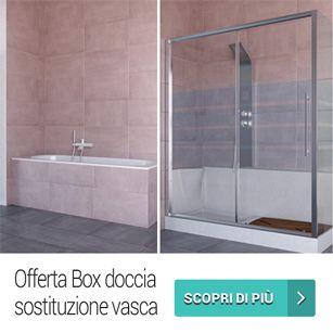 Box doccia trasformazione vasca 70x170x205 completo di