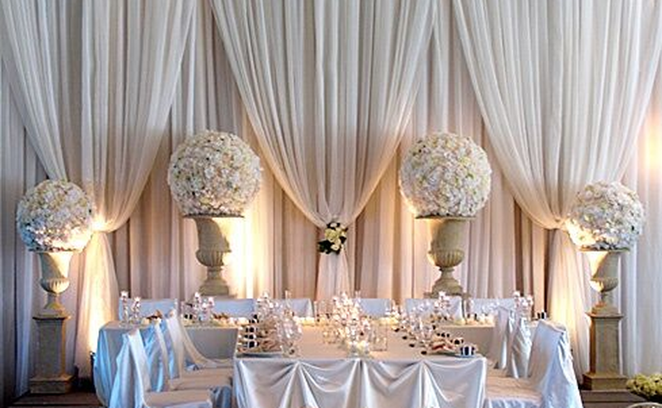 We Design Draping Solutions For Weddings And Events That Include Drape Backdrops Head Tables Wall Ceremonial
