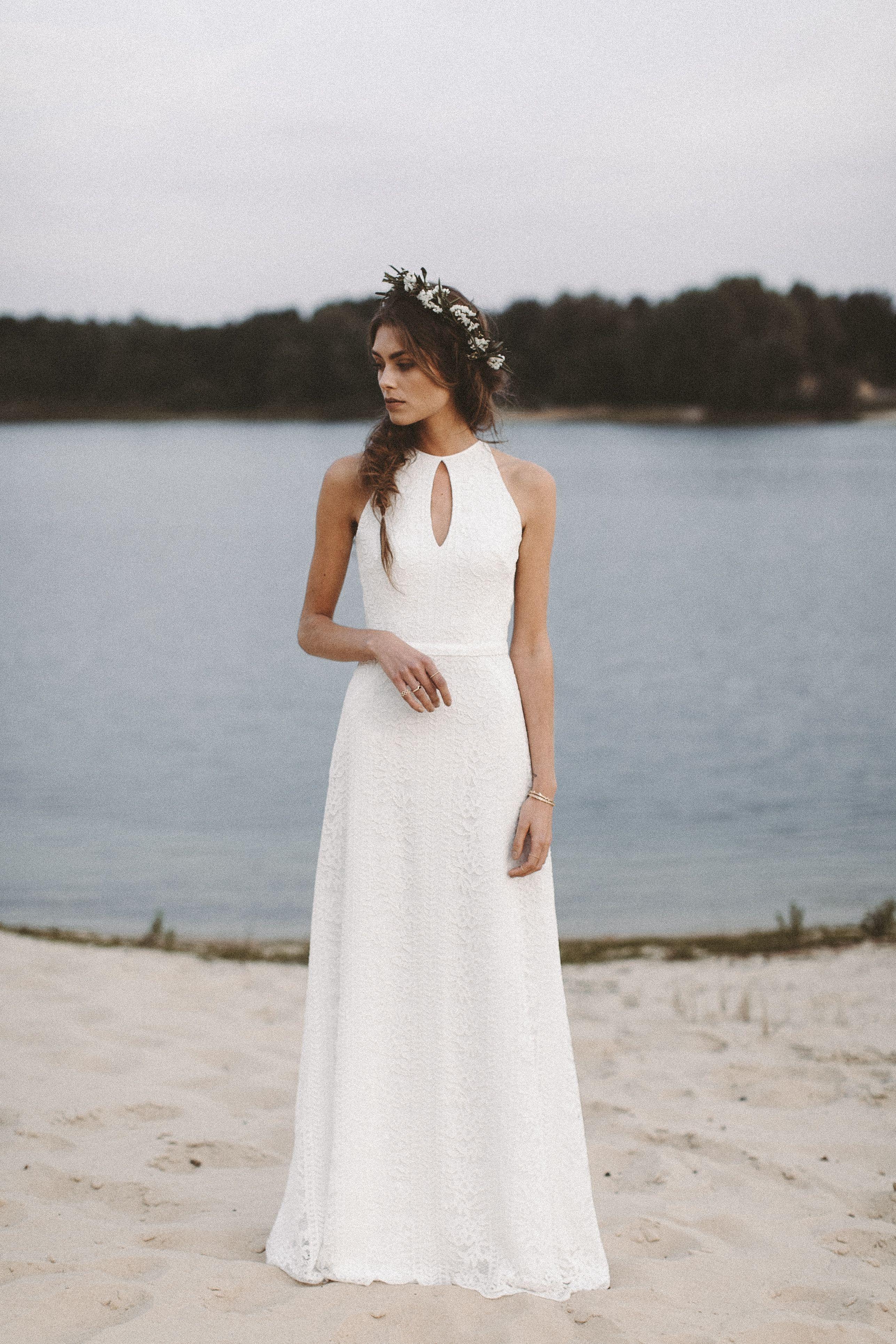 Brautkleid aus Spitze Vintage Hochzeitskleid Boho ...