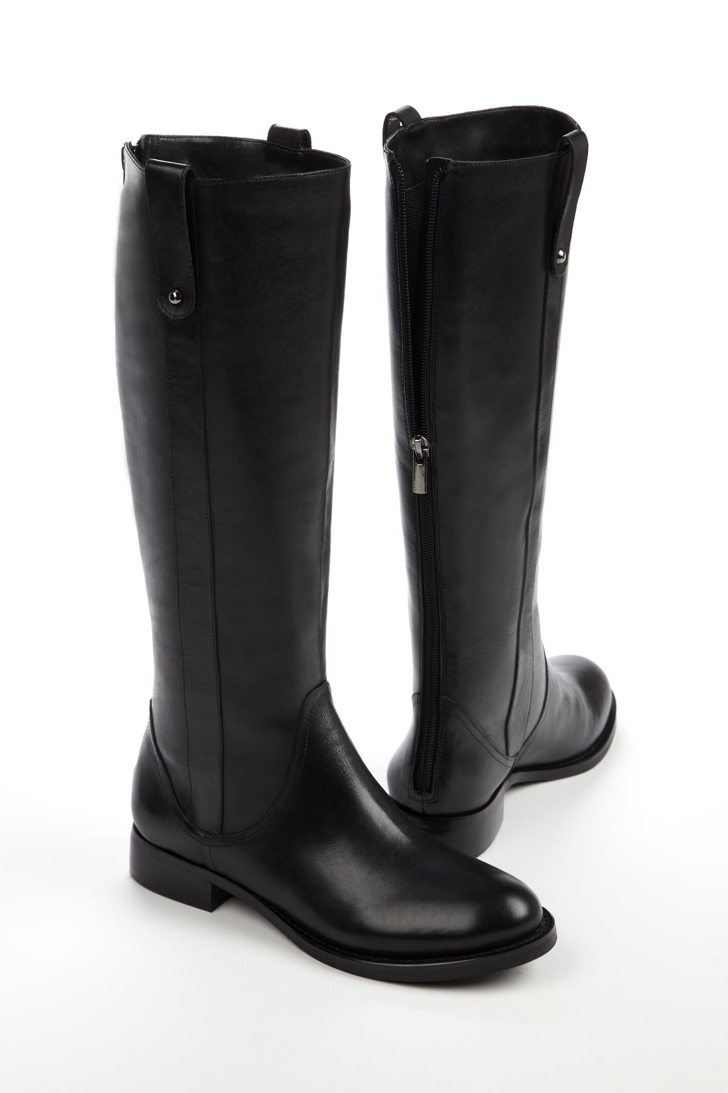 Boots, Womens leather knee high boots