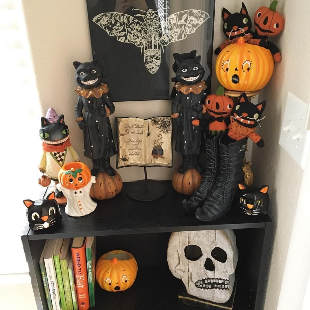 31 Likes, 6 Comments - Felicia Huntington ☾ (@silverrmoth) on - Primitive Halloween Decor