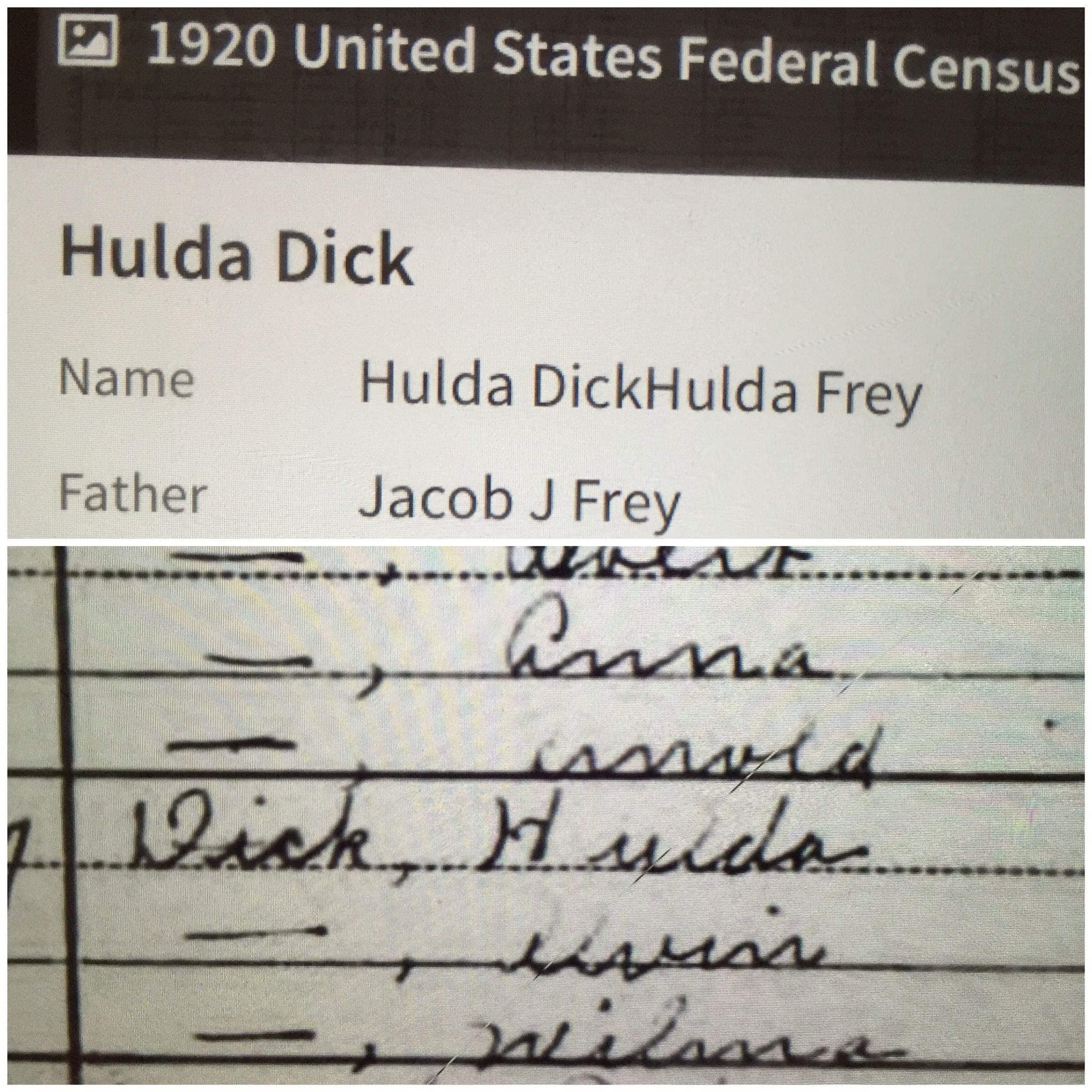 Researching my husband's genealogy and discovered his Great Aunt Hulda.
