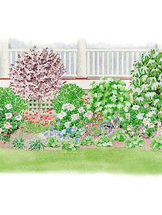 Shade Garden Ideas Zone 7 porch border garden plan | perennial garden plans, garden planning