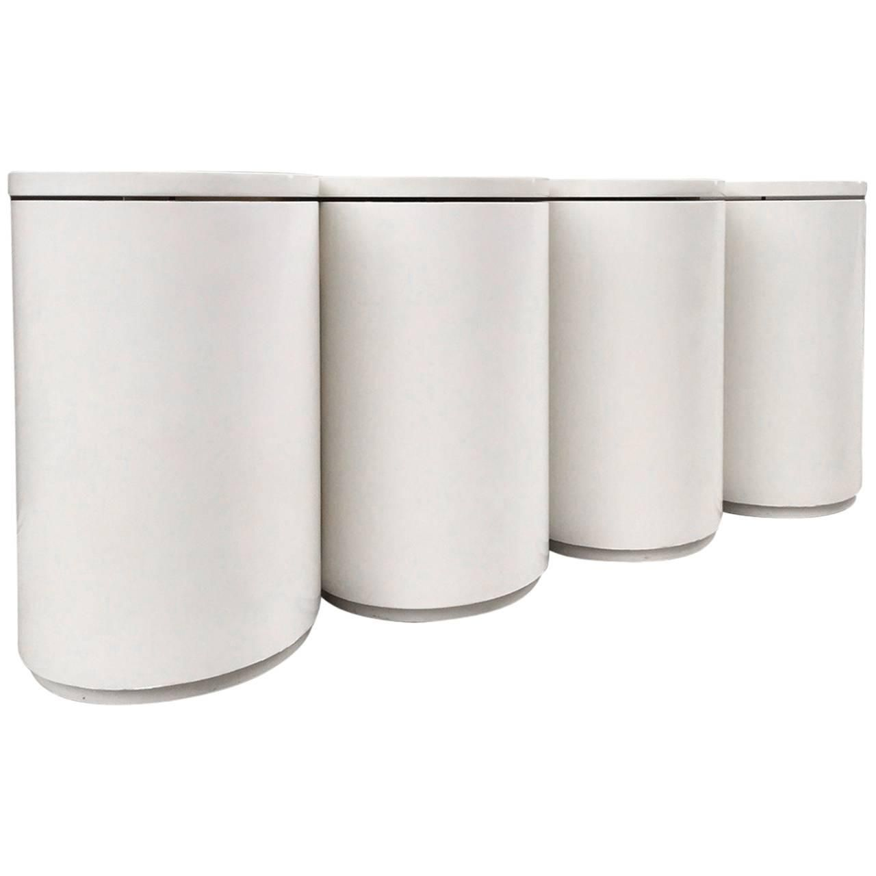 Lacquered Cylindrical Console style of Paul Evans 1